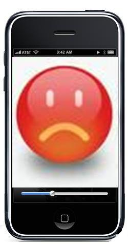 iPhone sad
