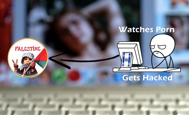 Internet pornography on a computer screen