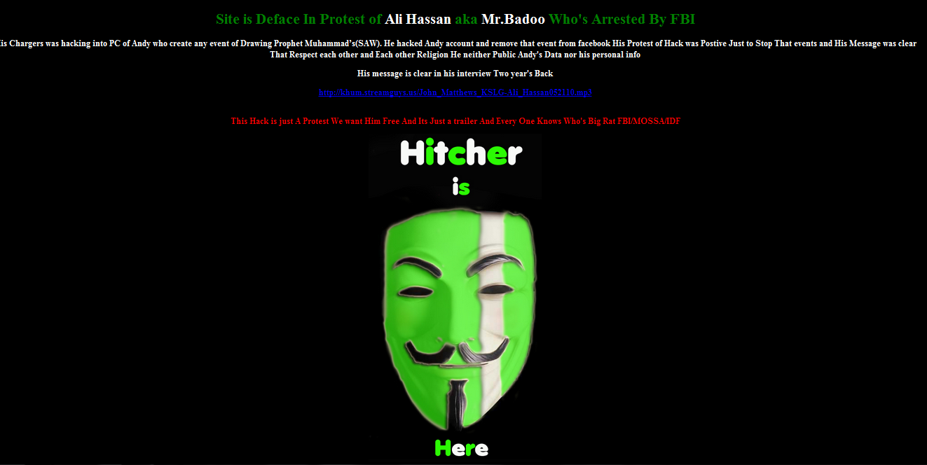 Israeli Government Website Hacked By Hitcher Against Mr