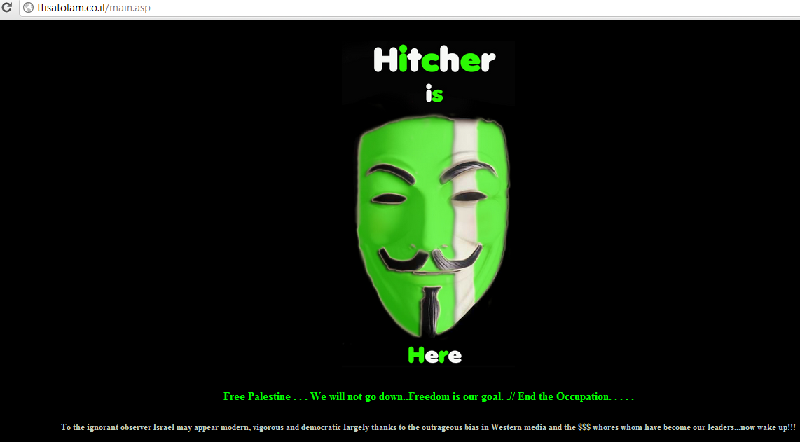 22 Israeli websites hacked by Hitcher and AiNAB hacker