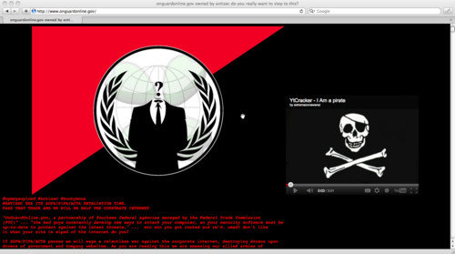 US Top Government Security Website Hacked by Anonymous and Login Details Leaked