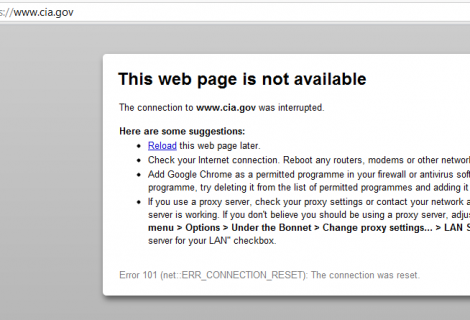 CIA website taken down by 'Anonymous'