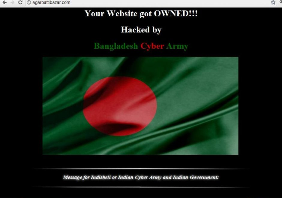 Over 20,000 Indian websites hacked by Bangladeshi hackers