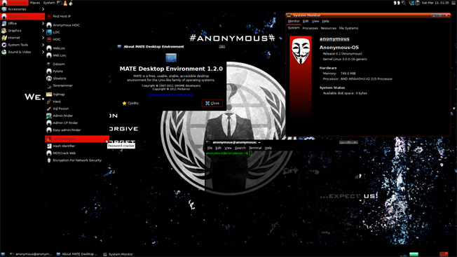 """Anonymous Hackers released """"Anonymous-OS 0.1"""" their own Operating System"""