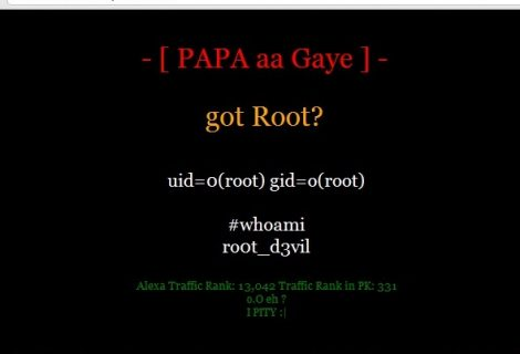 Defence PK website hacked by Ro0t_d3vil of Indian Cyber Army (ICA)