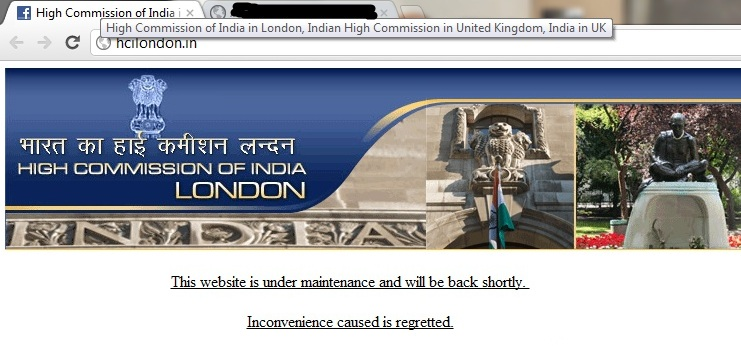 High Commission of India in London Hacked by Ethical BD HaXor