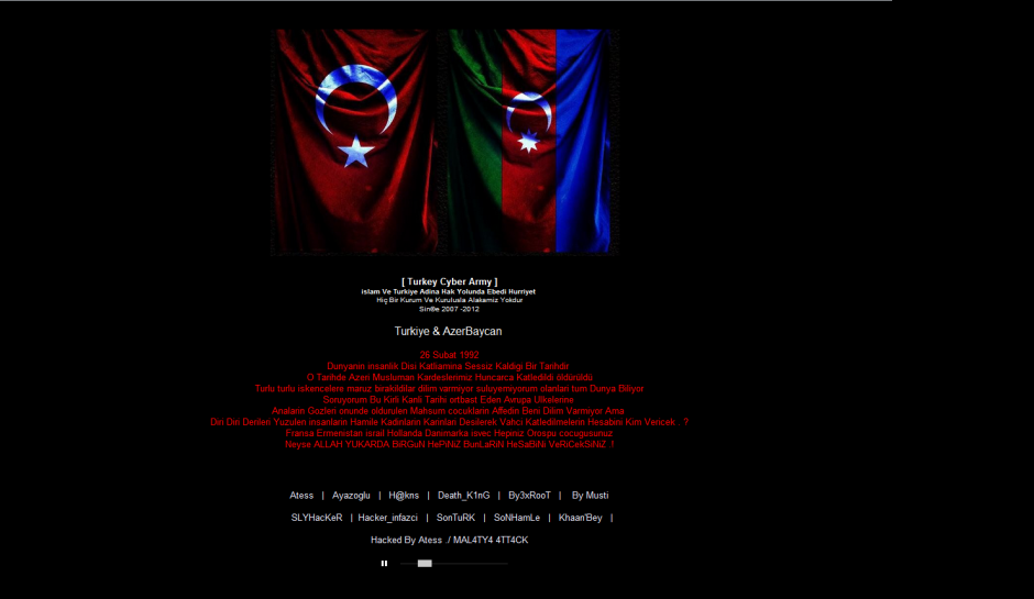 United Nations Armenia Website Defaced by Turkey Cyber ​​Army