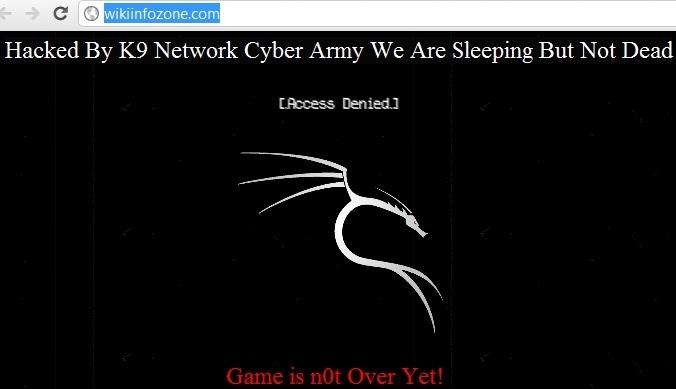 Wiki Info Zone website hacked by K9 Network Cyber Army