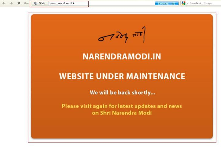 Official Narendra Modi website taken down by ZHC ( Z Company Hacking Crew)