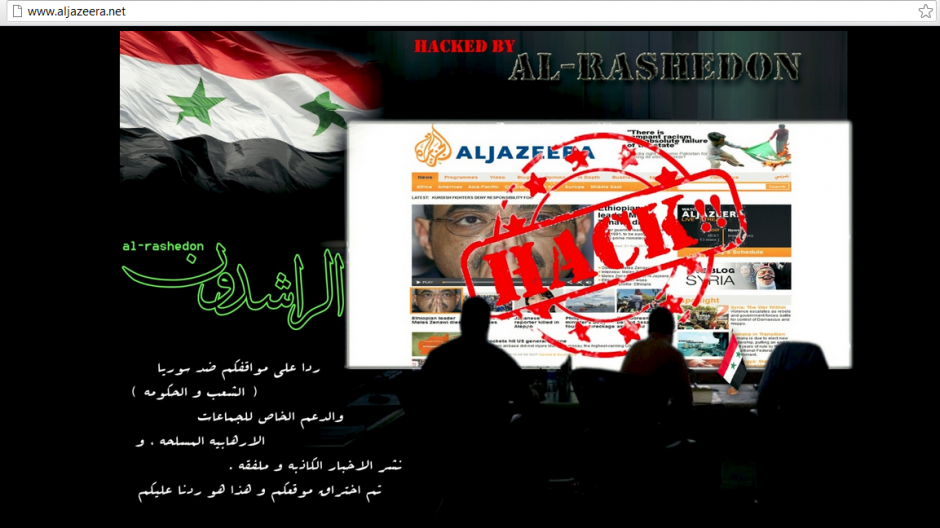 Al Jazeera News network website hacked by Al Rashedon hackers