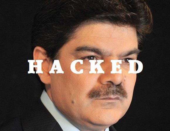 Pakistani TV Anchor Mubasher Lucman's website hacked