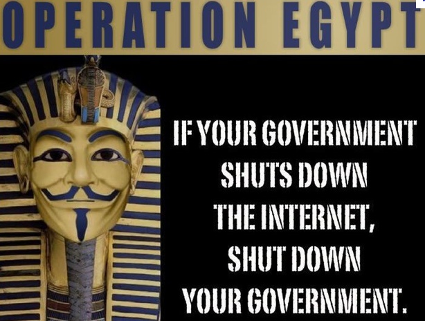 #Op_Egypt: 30 Egyptian Government Websites Taken Down by Anonymous