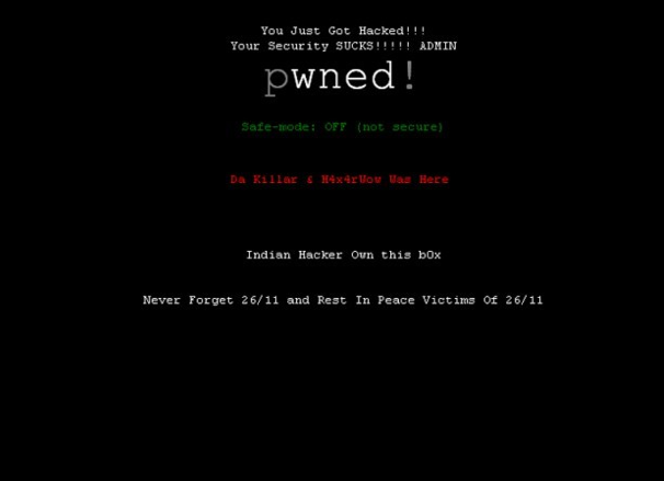 Peshawar High Court website hacked