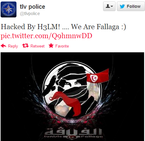 Tel Aviv Police Twitter Account Hacked by Tunisian Hackers