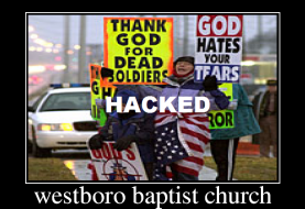 #OpWestBoro: Westboro Baptist Church Hacked by Anonymous Hackers