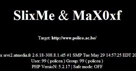 Belgium Police Website Hacked by SlixMe