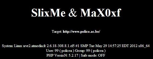 Belgium Police Website Hacked by SlixMe