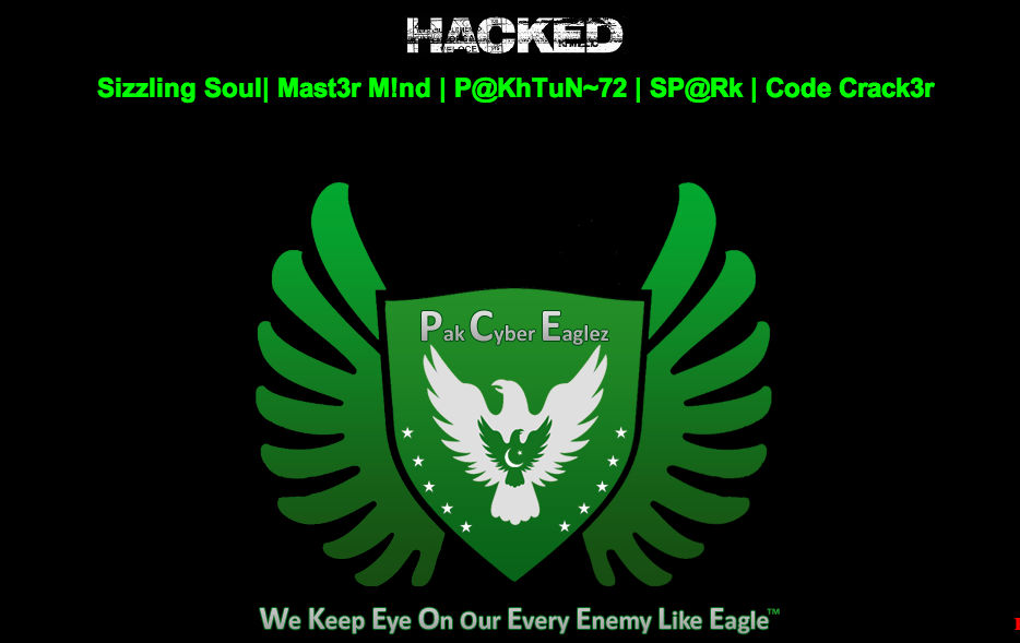 100+ Indian Sites hacked By Sizzling Soul Over LOC Dispute