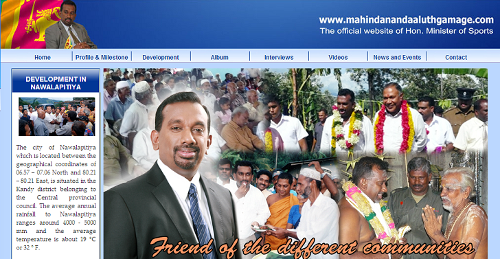 Sri Lanka's Minister of Sports Website Hacked, Data leaked by Davy Jones