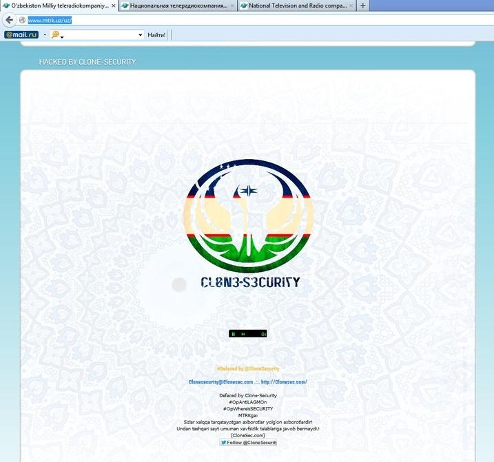 Uzbeki State Television And Radio Company's Website Hacked