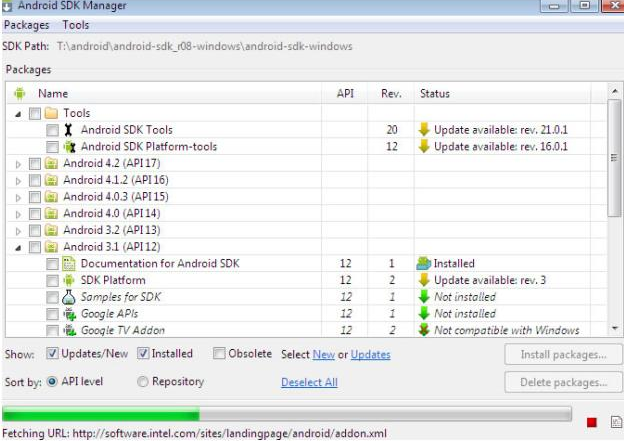 Run Android Applications on PC via Android SDK Manager