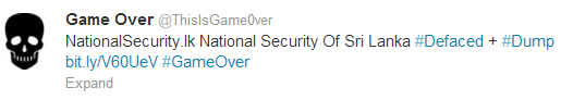 national-security of srilanka-hacked