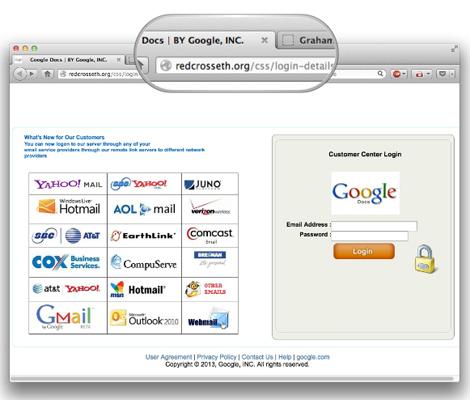 Phishing Attempts to Hack Google Passwords via Hacked Red Cross website