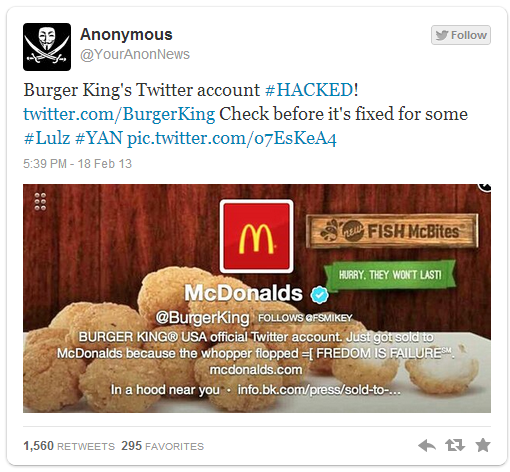 Anonymous-burgerking-hacked