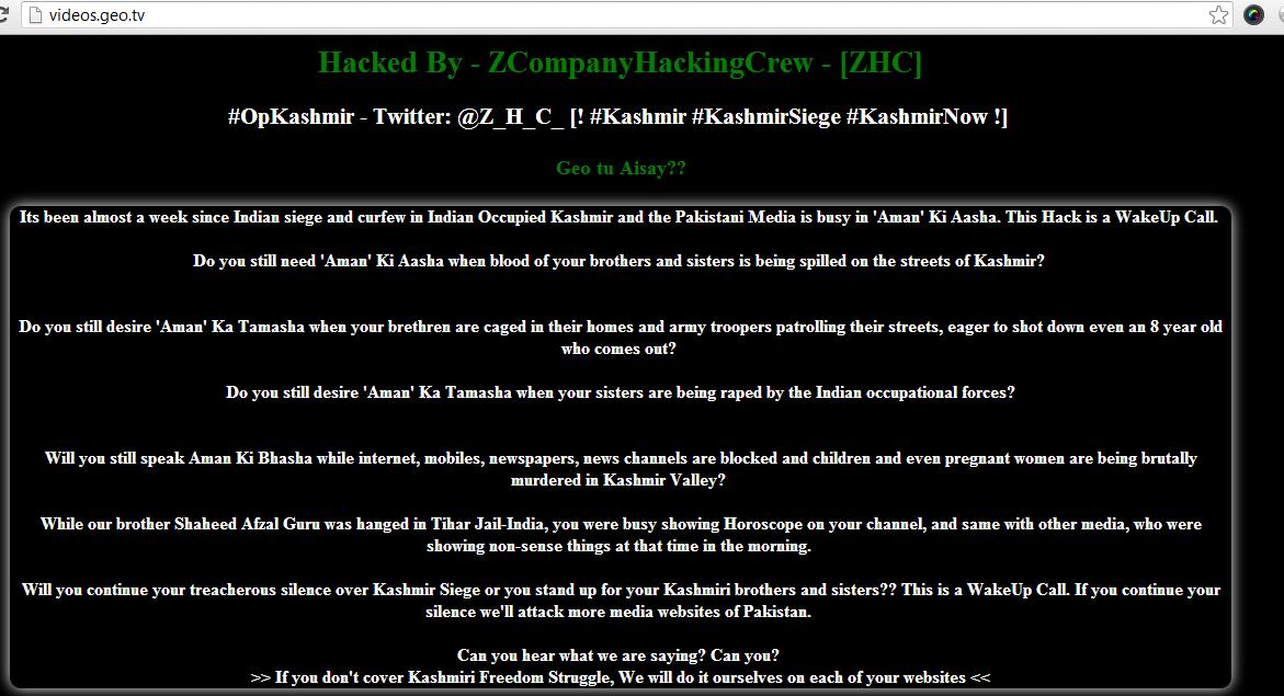 Geo tv hacked