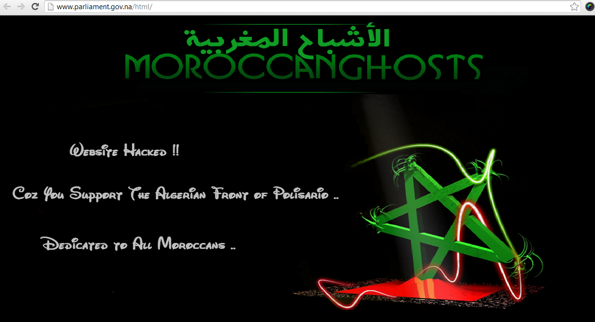 MoroccanGhosts-namibian-parliment-hacked