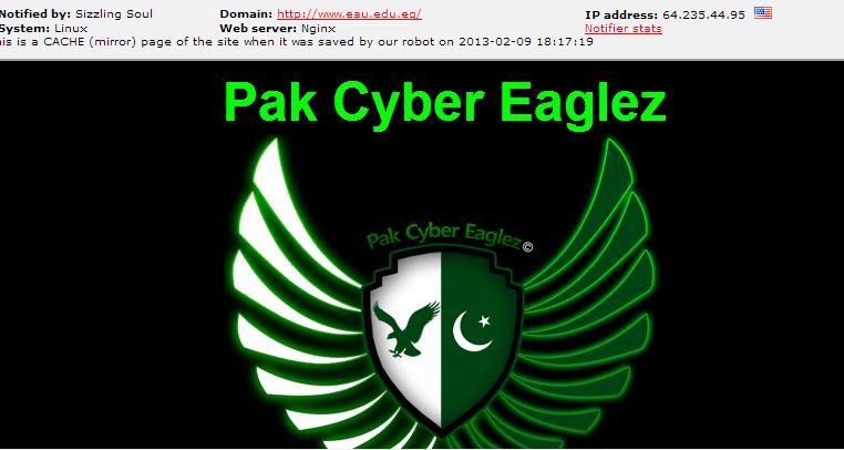 egyptian-university-hacked-pak-cyber-eaglez-sizzlingsoul-hackers