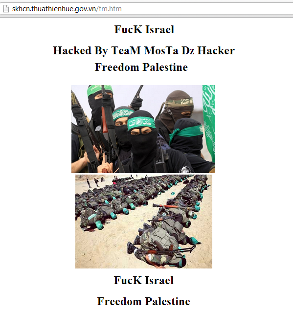 62 Vietnamese Government Websites Hacked by TeaM MosTa
