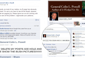 Gen. Colin Powell's Facebook Page Hacked by Guccifer, spammed with anti-Bush Status