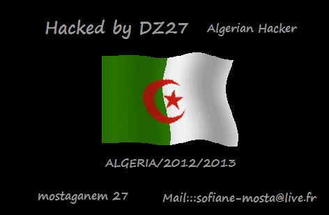 Egyptian Armed Forces Information System Institute and Tourism Authority Website Hacked by DZ27