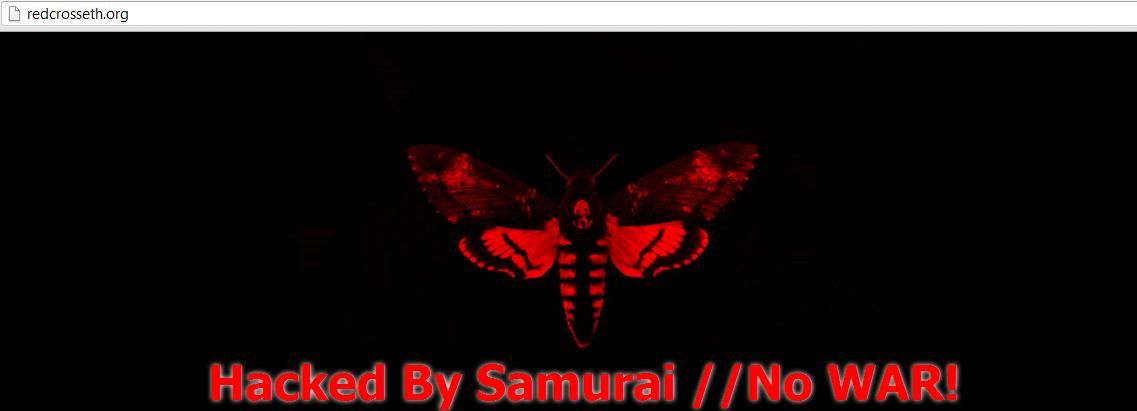 Ethiopian-Red- Cross-Website -Hacked -& -Defaced -by -Samurai- -Hacker