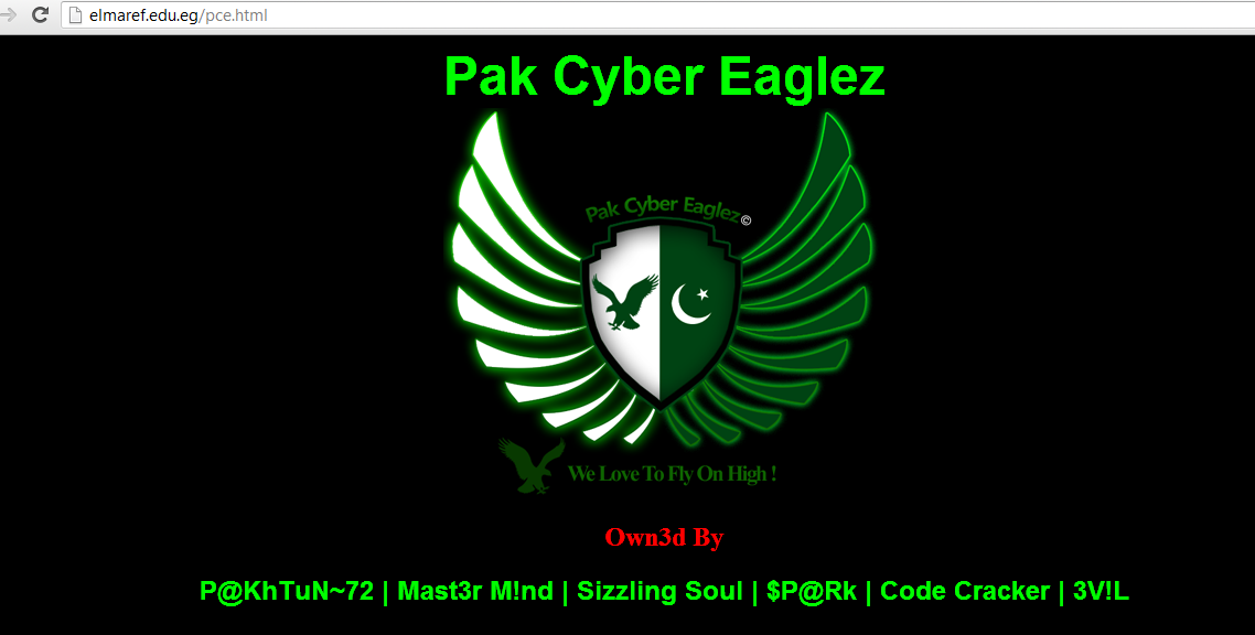 Pak-cyber-eagles-pakistnai-hackers