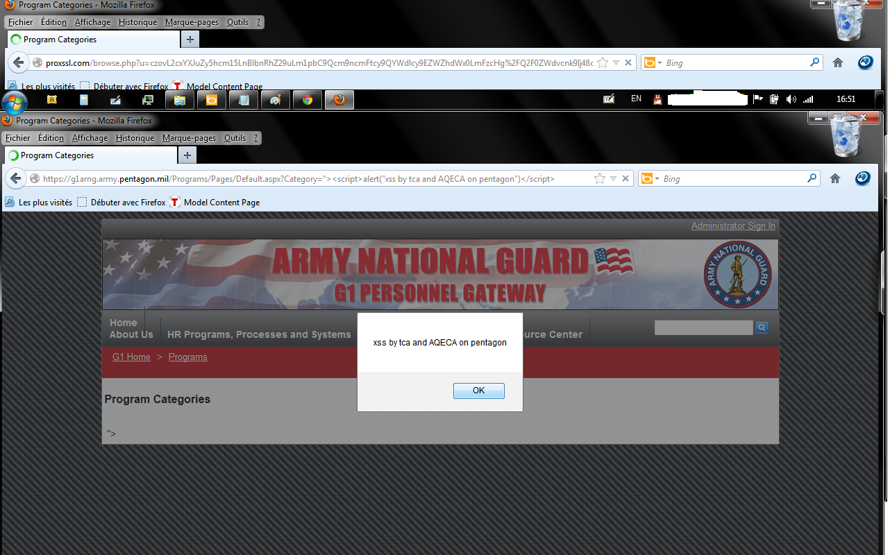 Tunisian Cyber Army founds XSS Vulnerability on official Pentagon website