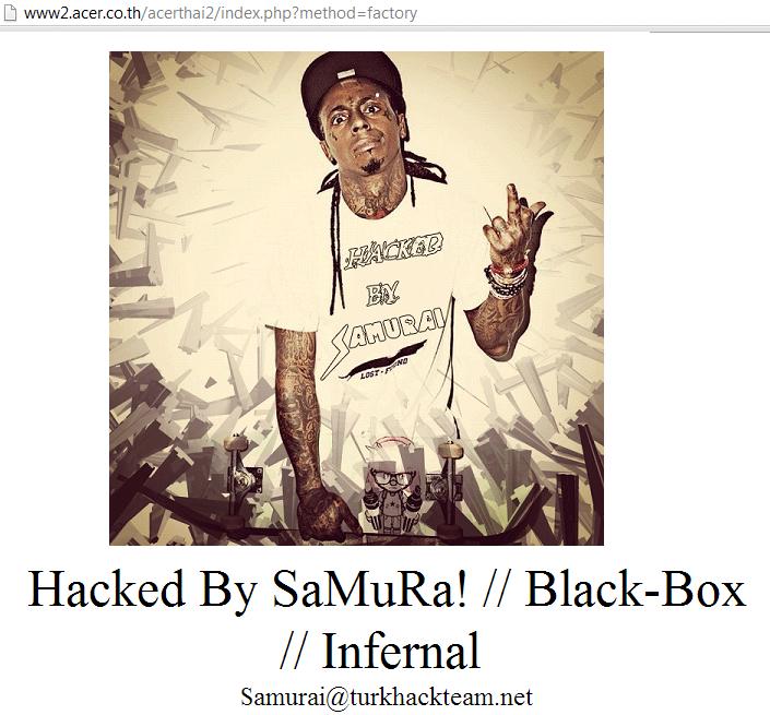 acer-thiland-website-hacked-by-turk-hack-team-samurai