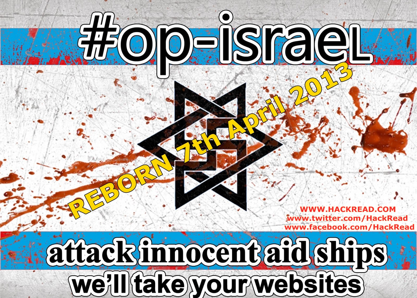 #opIsrael-7th April-2013-reborn