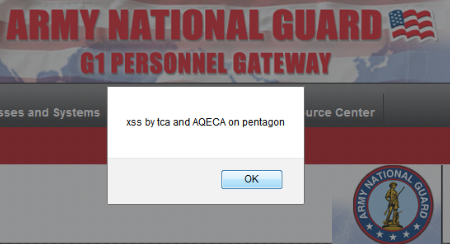 Tunisian Cyber Army Founds XSS Vulnerability on Pentagon Website
