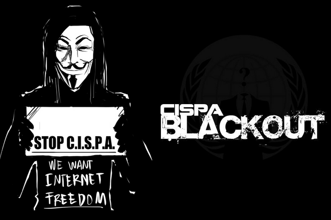 Anonymous Hackers Defaces Their Own Websites for CISPA Blackout