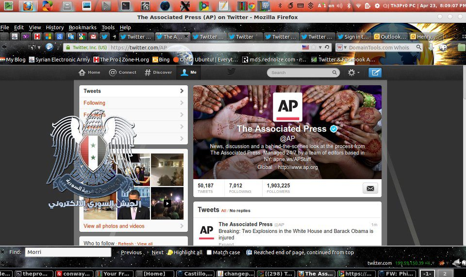 Hackers Hijack Twitter accounts of The Associated Press Claiming Bomb Blast in White House leaving Obama Injured-2