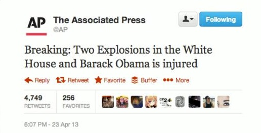 Hackers Hijack Twitter accounts of The Associated Press Claiming Bomb Blast in White House leaving Obama Injured