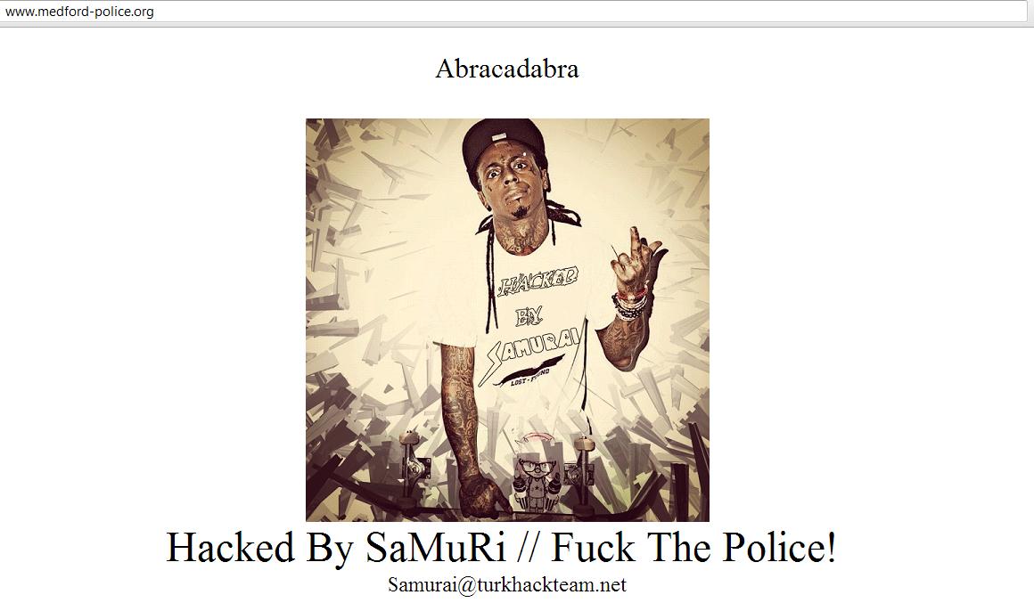 Medford Township Police Website Hacked by Samurai Hacker