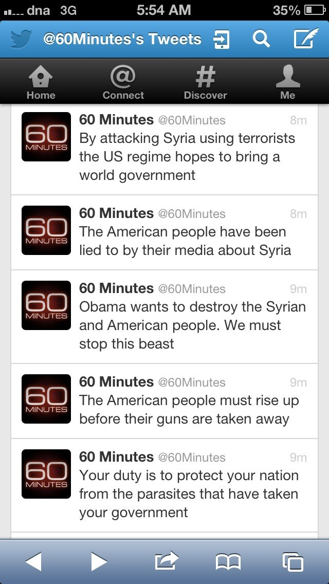 Syrian Electronic Army Hacks CBS Twitter To Claim Obama Involvement in Boston Bombings-2