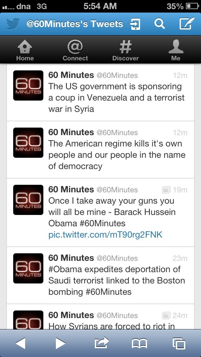 Syrian Electronic Army Hacks CBS Twitter To Claim Obama Involvement in Boston Bombings-3