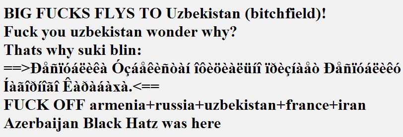 Website of Uzbekistan Embassy in Azerbaijan Hacked by Azerbaijan Black Hatz
