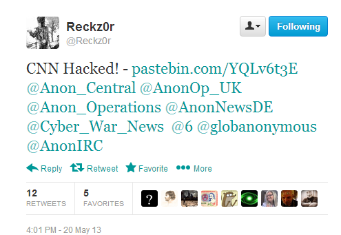 CNN-International-Breached-Accounts-Leaked-Fake-Articles-Posted-By-@Reckz0r