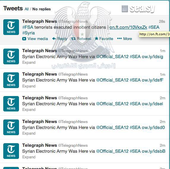 Facebook and 8 Twitter Accounts of The Telegraph News Hacked by Syrian Electronic Army-45